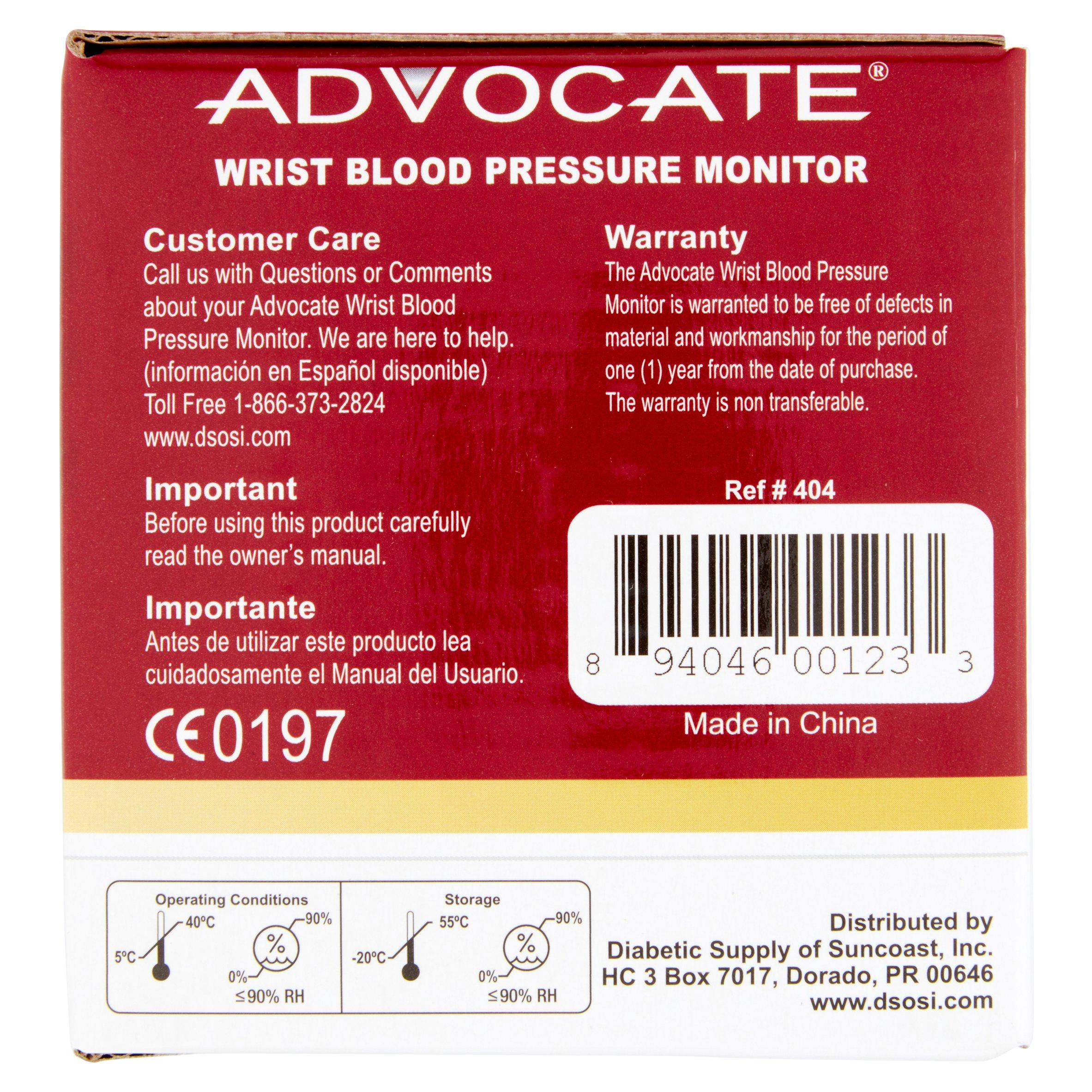 Advocate wrist blood pressure monitor walmart nvjuhfo Images