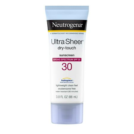 Neutrogena Ultra Sheer Dry-Touch Water Resistant Sunscreen SPF 30, 3 fl. oz Antioxidant Spf 30 Sunscreen