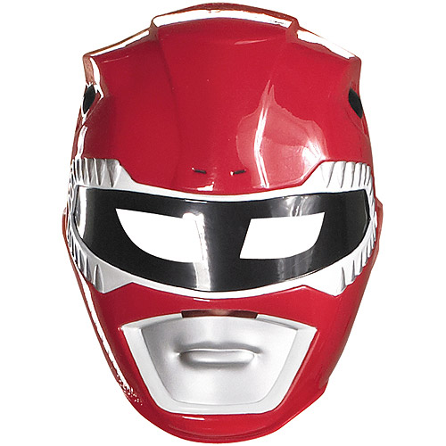Red Ranger Vacuform Mask Adult Halloween Accessory