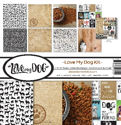 "Reminisce Collection Kit 12""X12""-Love My Dog"