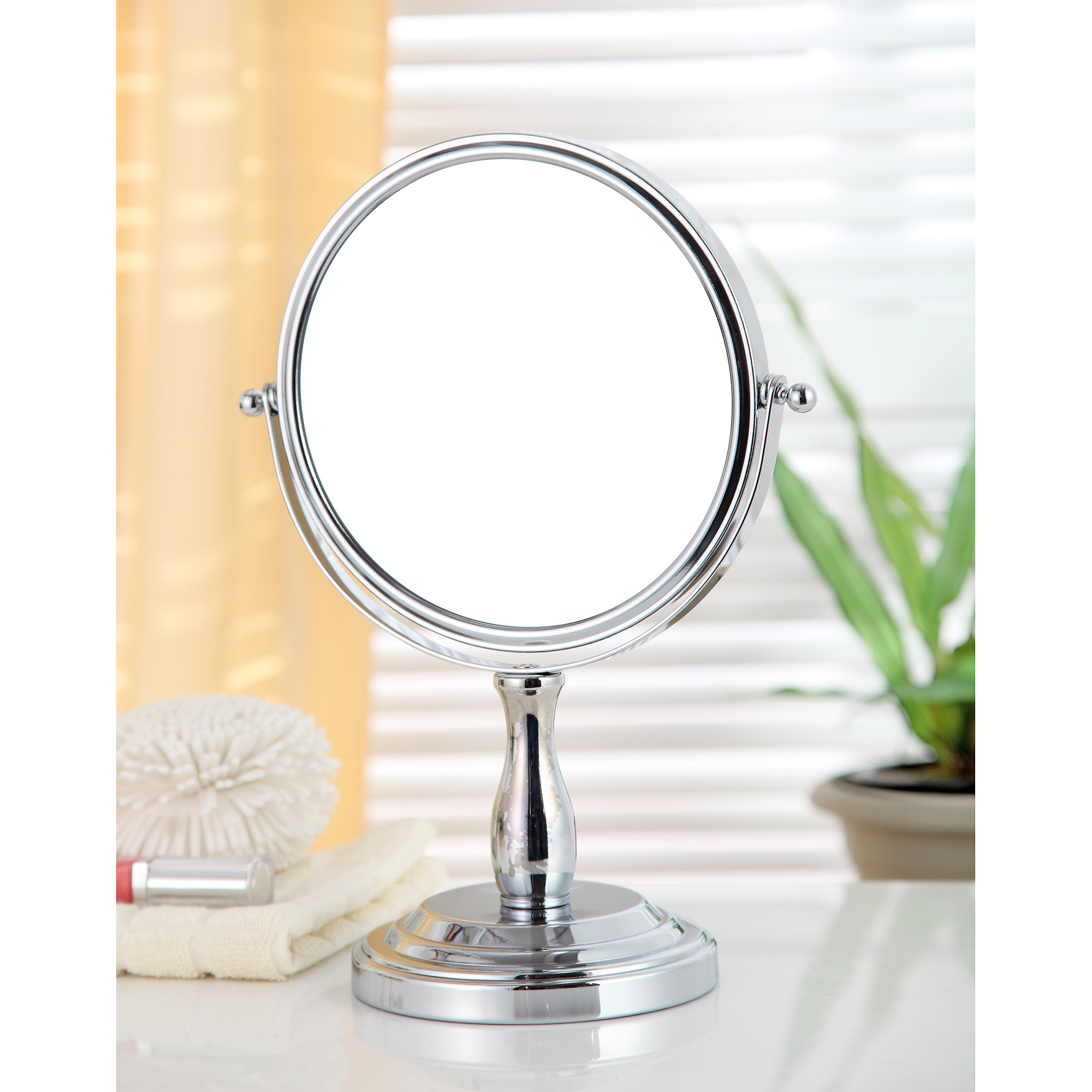 Test Rite Standing Mirror, Chrome