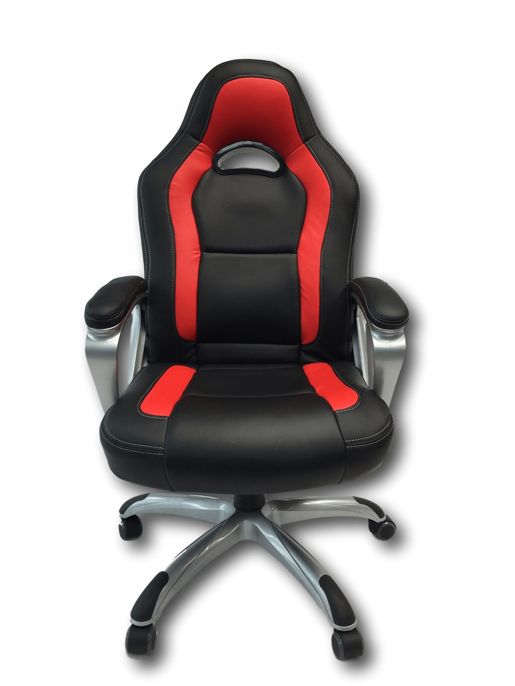 ViscoLogic Series VIOS Gaming Racing Style Swivel Office Chair (Black U0026 Red)