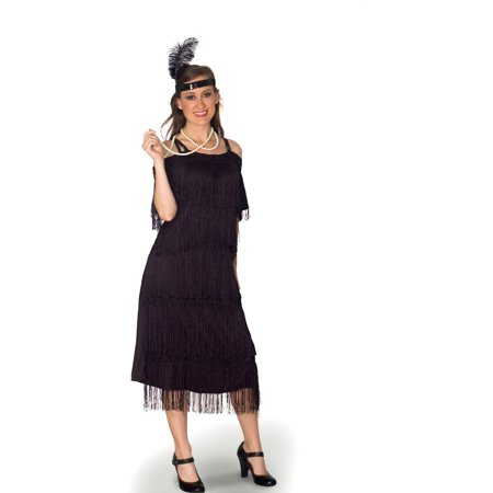 Lava Diva Plus Size Deco Era Flapper Costume (Plus Size Couples Costumes)