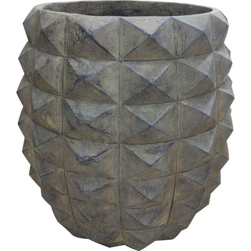 Moe's Pineapple Vase in Gray