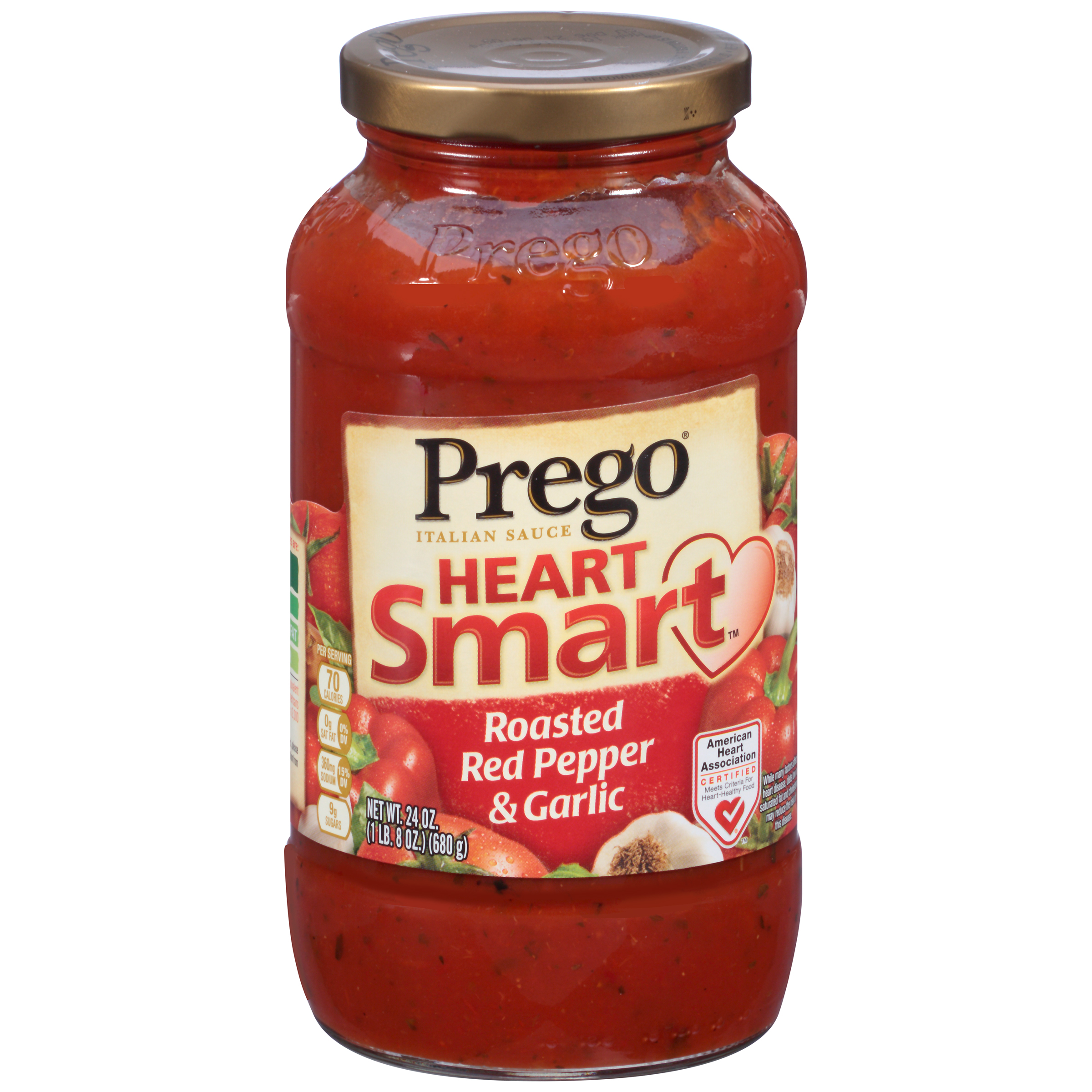Prego Heart Smart Roasted Red Pepper & Garlic Italian Sauce 24oz