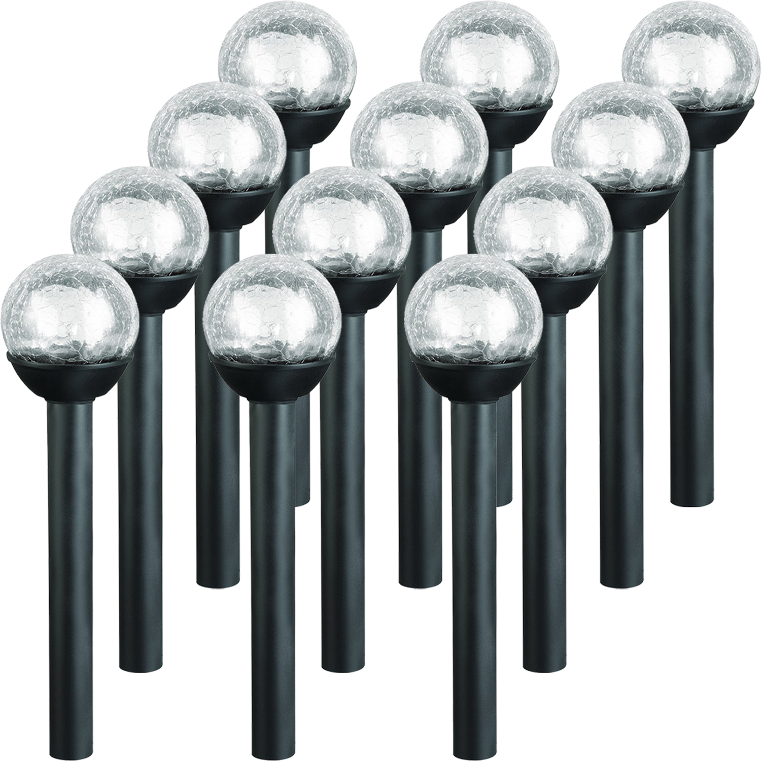 WESTINGHOUSE NEW Black Petite Solar Power LED Crackle Ball Path Light (12 Pack)
