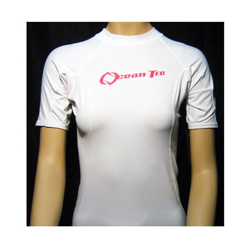 Womens Rash Guard Short Sleeve Lycra Rashguard Swim Top Shirts Swimwear Ladies