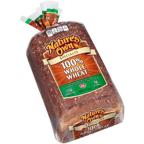 Nature's Own Specialty 100% Whole Wheat Bread, 24 oz