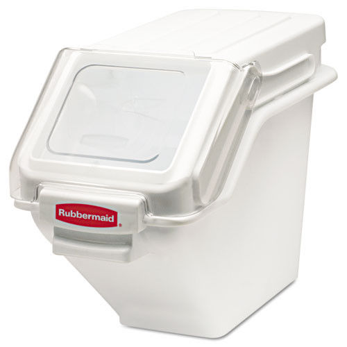 Rubbermaid FG9G5700WHT 5.4 Gal. 11-1/2 in. x 23-1/2 in. x 16-7/8 in. ProSave Shelf Ingredient Bin (White)