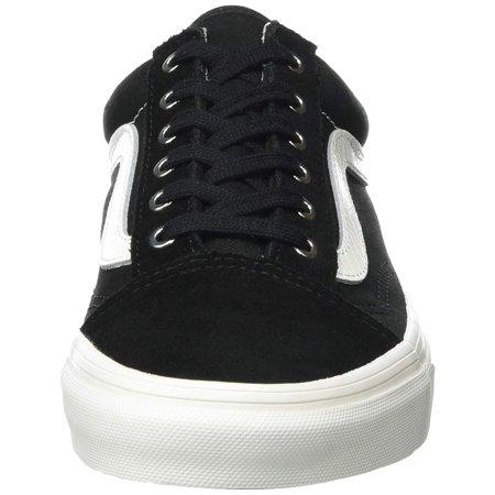 Vans Old Skool Snake Black Blanc Ankle High Leather Skateboarding Shoe 9.5M 8M