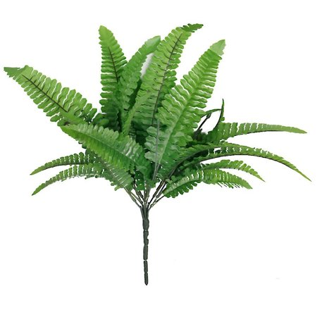 1pc Green Imitation Fern Plastic Artificial Grass Leaves Plant for Home Wedding Decor ()