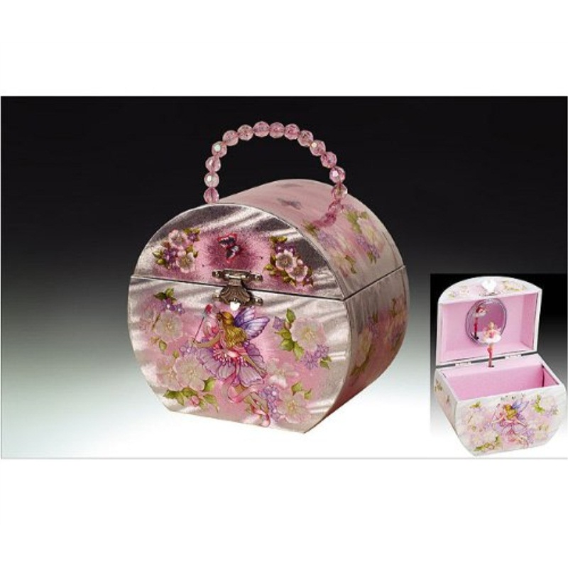 Childrens Musical Jewelry Music Box Ballerina Fairy PNK