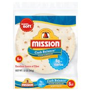 Mission Carb Balance Soft Taco Flour Tortillas, 8 Count