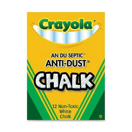 Crayola Chalk Anti-Dust White Chalk
