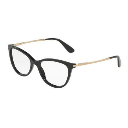 Dolce Gabbana Rimless Glasses (DOLCE & GABBANA Eyeglasses DG3258 501 Black)