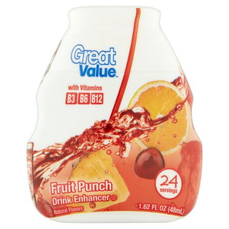 Great Value Fruit Punch Drink Enhancer  1 62 Oz