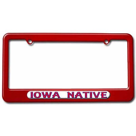 Iowa Native, State Pride License Plate Tag Frame, Multiple Colors ...