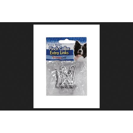 BossPet Metallic Chain Pinch Collar Links ()