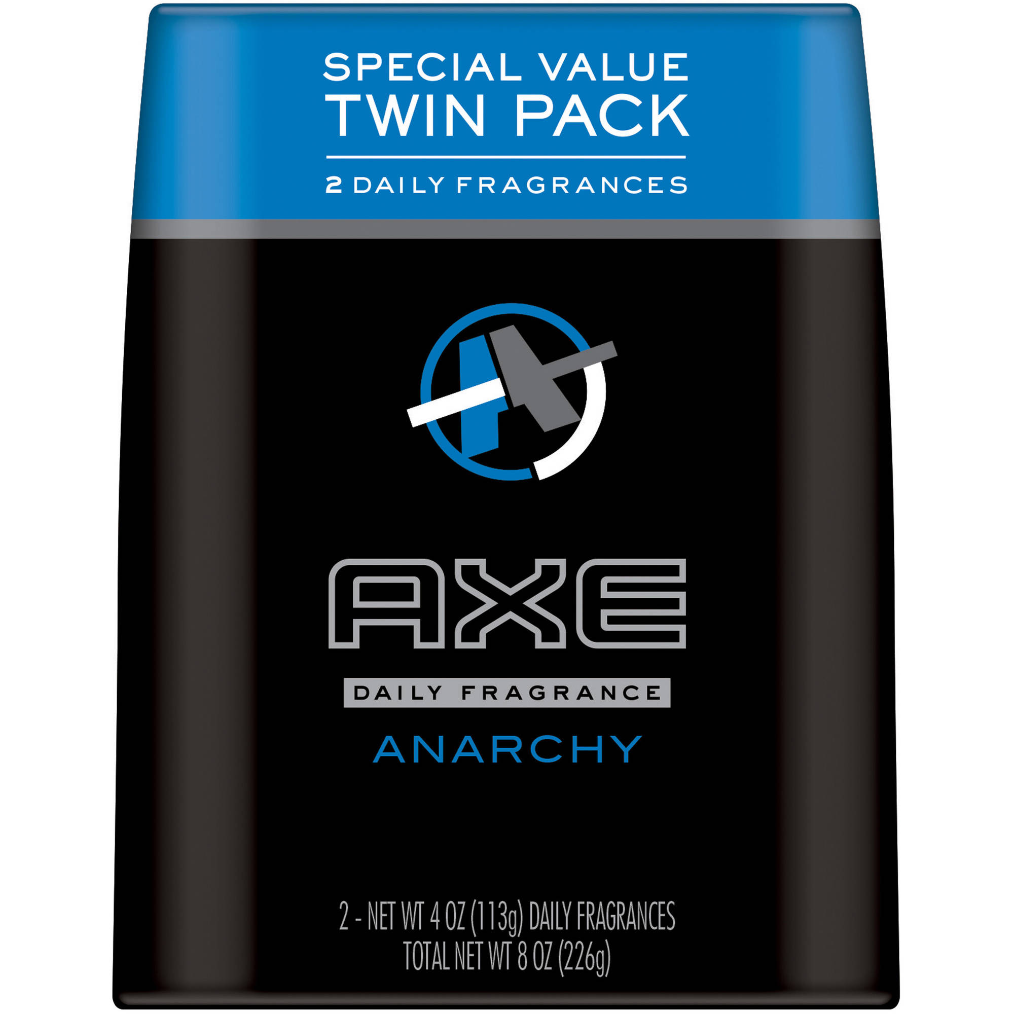 AXE Anarchy Body Spray for Men, 4 oz, Twin Pack