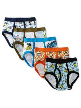 Nickelodeon SpongeBob Boys Underwear, 5 Pack Brief (Little Boys)