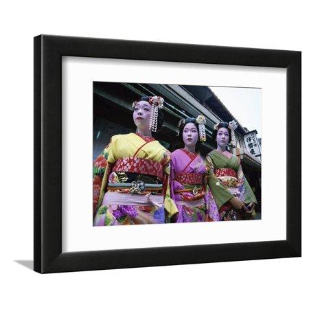 Maiko Girls, Kyoto, Japan Framed Print Wall Art Maiko Girl Kyoto Japan