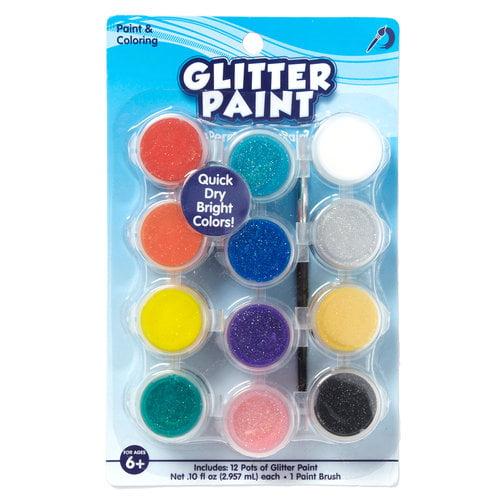 Kids Craft 12 ct Glitter Paint Pots, Assorted