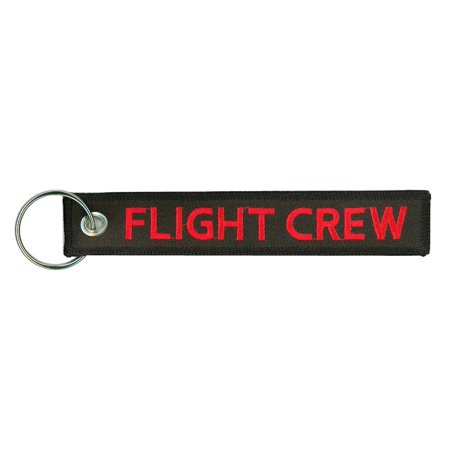 Flight Crew Embroidered Key Chain, Embroidered with