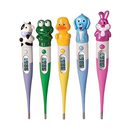 Oral Probe Thermometer, Accurate Digital Readings Kids Thermometer Oral, Set Of 5