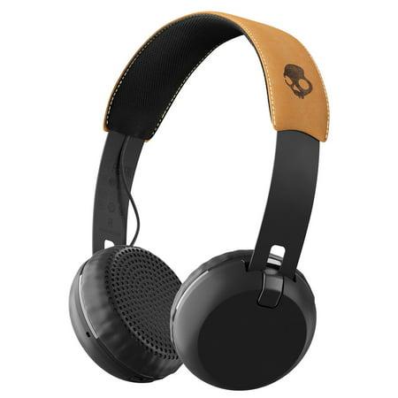Skullcandy Grind Bluetooth Wireless On Ear Headphones  Black Tan