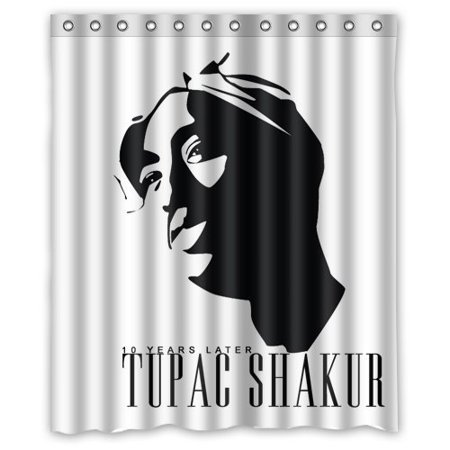 DEYOU Tupac Shakur Vector Shower Curtain Polyester Fabric Bathroom Size 60x72 Inches