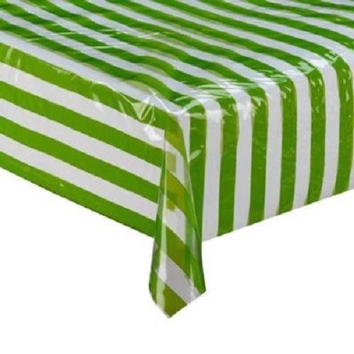 Disposable Stripe Pattern Plastic Tablecloth Table Cover Party Wedding Decor (Black Stripe)