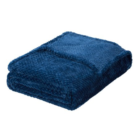 Better Homes & Gardens Velvet Plush Navy Full/Queen Bed Blanket