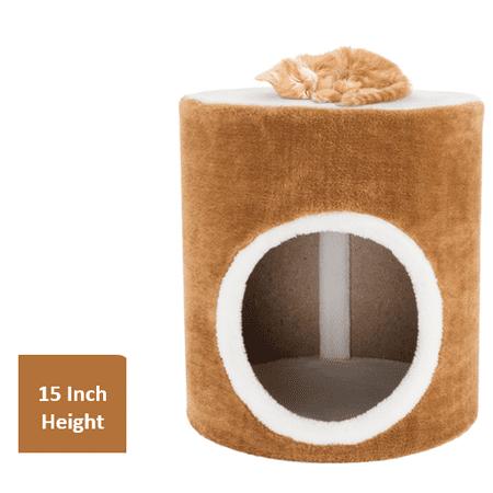 Cat Condo Barrel Single Hole, 14
