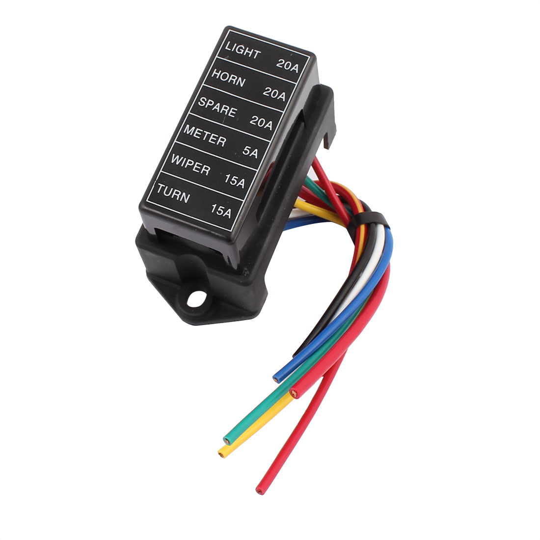 HS-006 6 Roads With Wire Modification Basic Block Auto Car Fuse Box