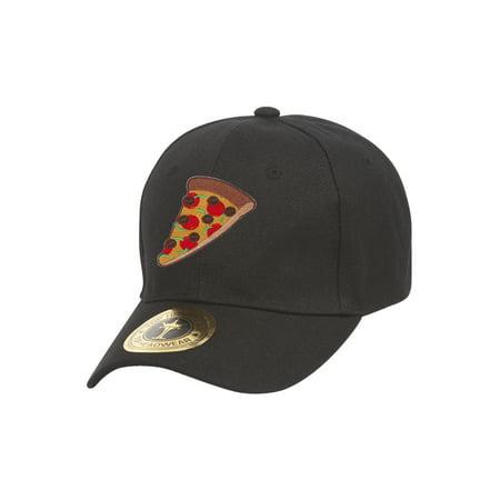 83e10c436 Pizza Slice Black Adjustable Baseball Cap
