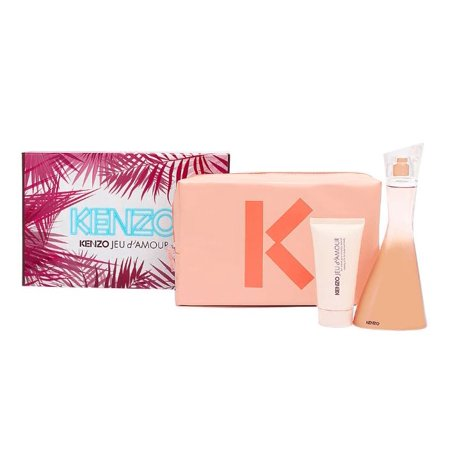 Kenzo Jeu dAmour Perfume Gift Set for Women with Pouch, 3 Pc