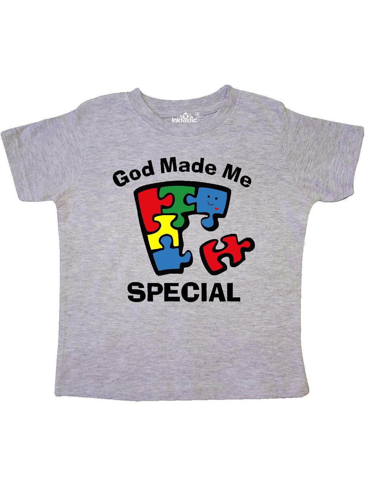 Autism God Made Me Special Toddler T-Shirt