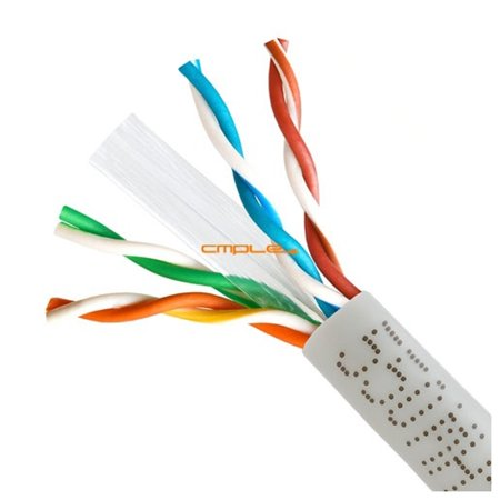 Cmple 550Mhz Speed Cat6 Solid Wire Bulk Utp 23Awg Ethernet Lan Network Cca Cable 1000 Ft Grey