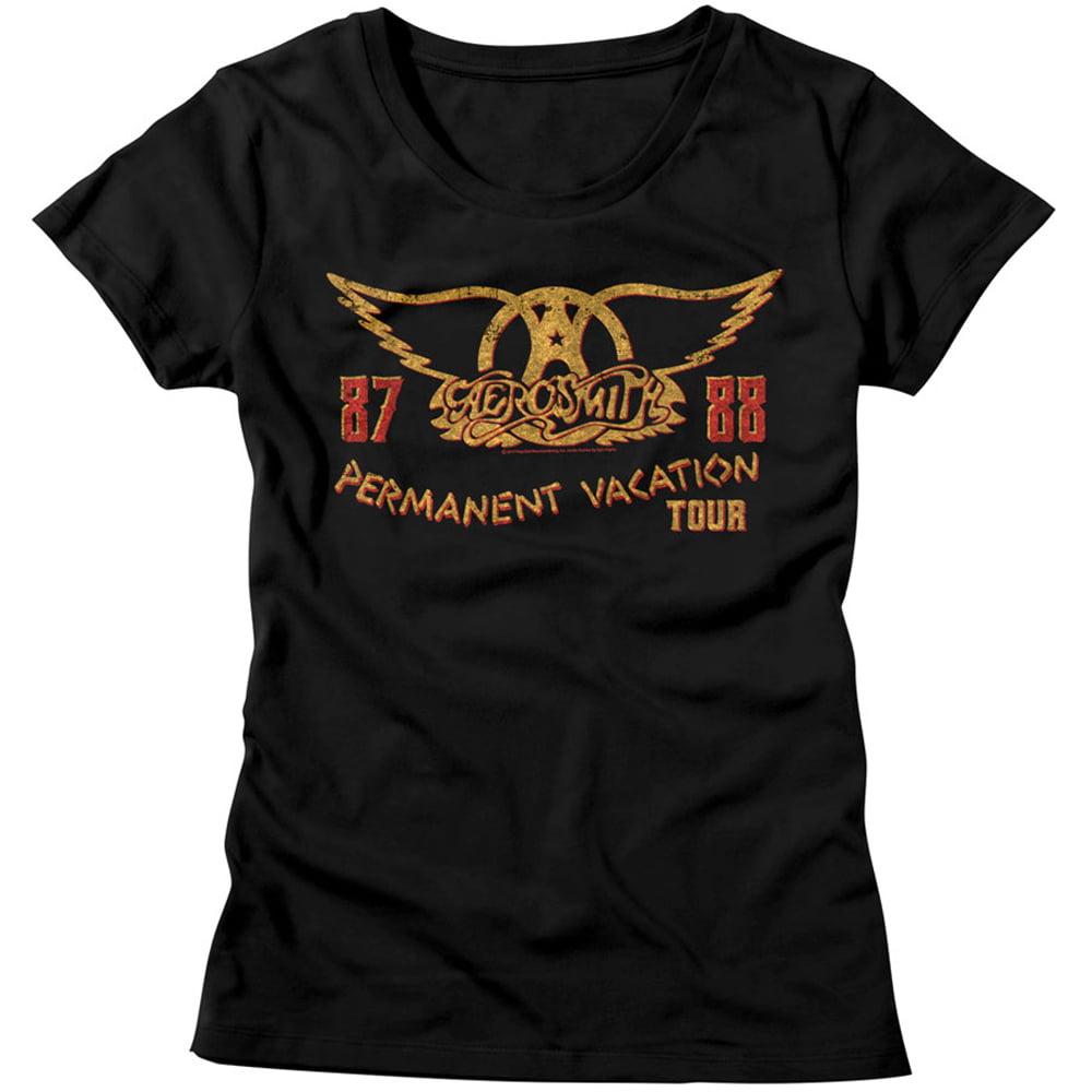 Aerosmith American Rock Band Permanent Vacation Tour 1987-88 Womens T-Shirt Tee - image 1 de 1