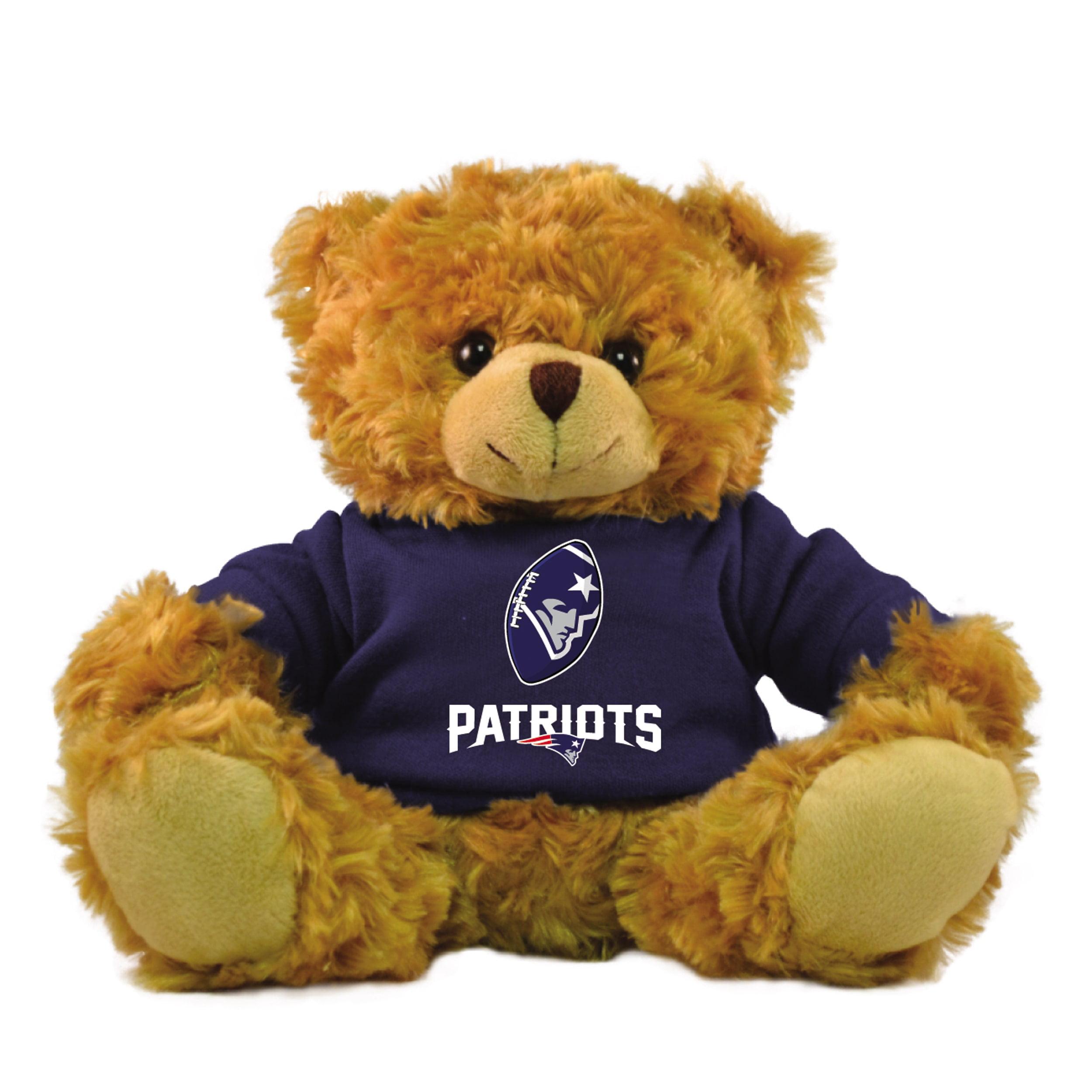 """Bleacher Creatures NFL 9"""" Rally Men Hoodie Bear, New England Patriots by Bleacher Creatures"""