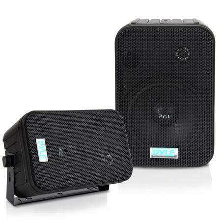 Clarity Outdoor Speakers - PYLE PDWR50B - 6.5'' Indoor/Outdoor Waterproof Speakers (Black)
