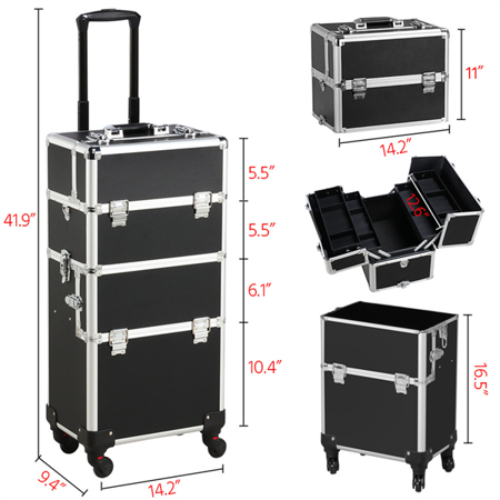 Cosmetic Case Trolley Makeup Beauty Box