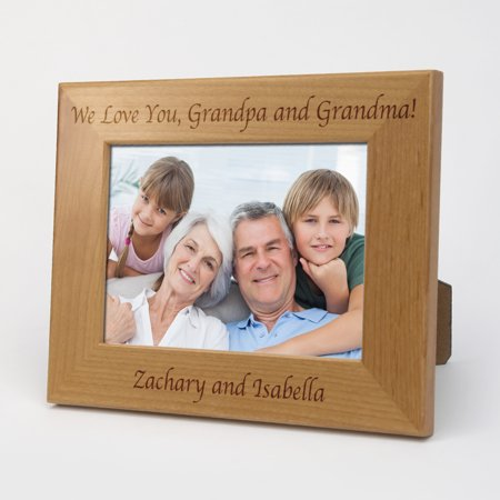 Grandma Grandpa Frame (Exclusive Sale - Custom Grandma and Grandpa Wood Picture Frame )