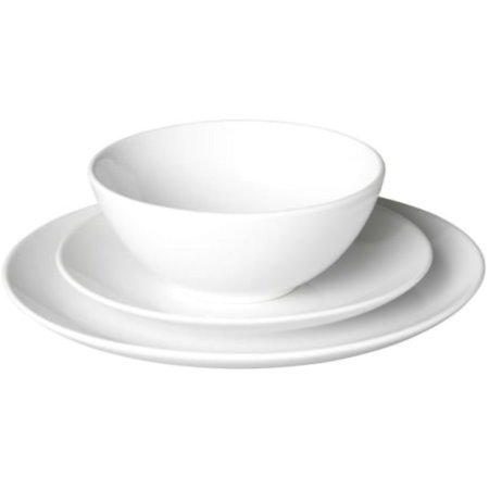 Ikea 18-piece dinnerware set, white, stoneware ,