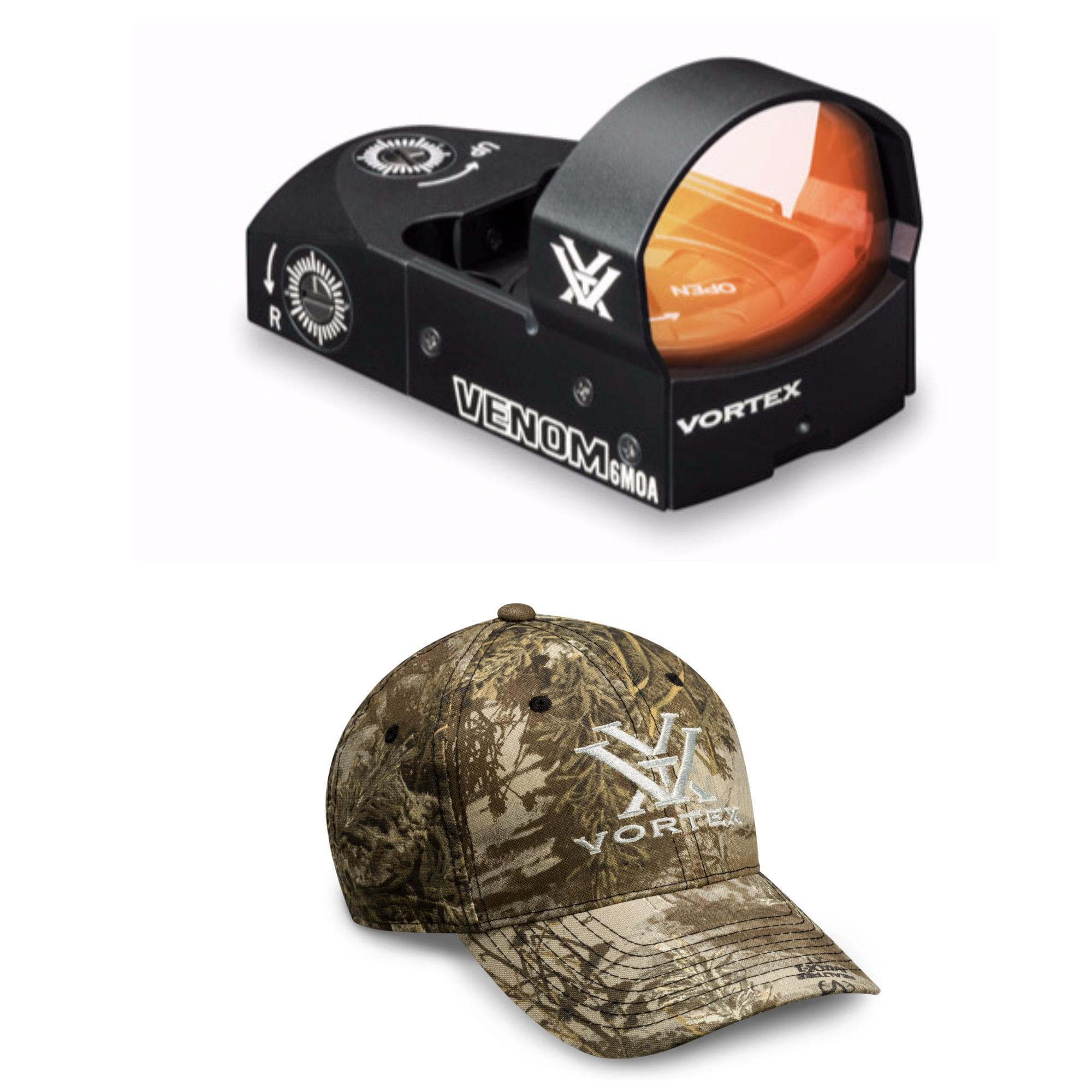 Vortex 6 MOA Venom Red Dot Sight with Vortex Hat (Realtree Max-1 XT Camo)