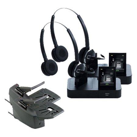 Gn 2025 Duo (Jabra GN Netcom PRO 9465 Duo Wireless Headset w/ GN1000 Remote Handset Lifter (2)