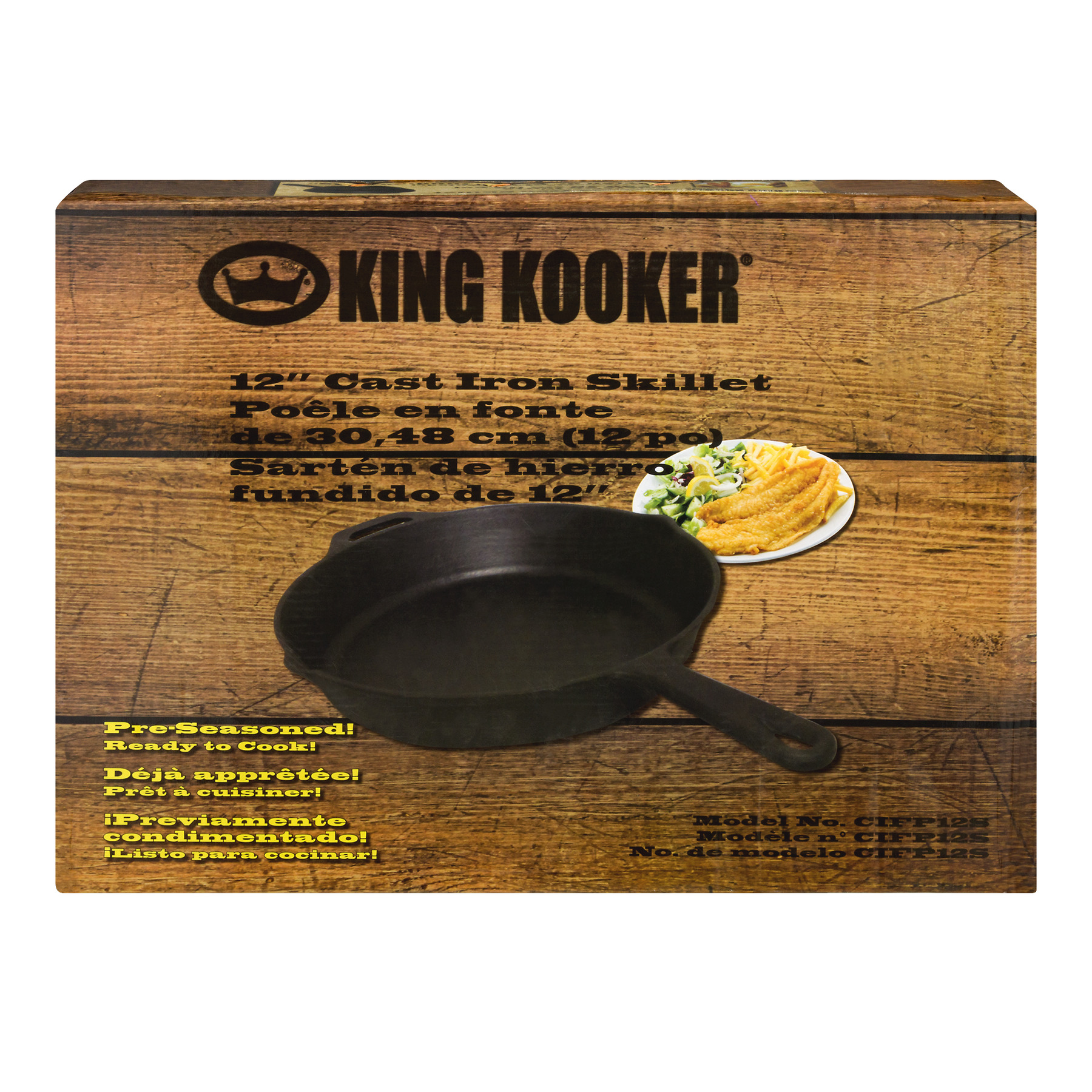 "King Kooker 12"" Cast Iron Skillet, 1.0 CT by Metal Fusion, Inc."