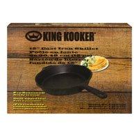 """King Kooker #CIFP12S - 12"""" Cast Iron Skillet w/ Helper Handle"""