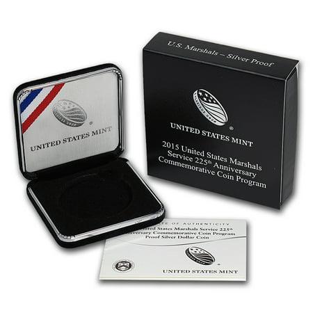 OGP Box & COA - 2015 U.S. Mint U.S. Marshals Silver Proof Coin