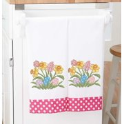 Herrschners  Easter Fanfare Towel Pair Stamped Cross-Stitch
